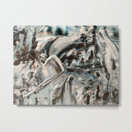 Abstract - Blue and Brown Metal Print