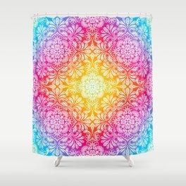 Pastel Boho Mandala Shower Curtain