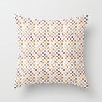 quilt Throw Pillows featuring Quilt by Anh-Valérie