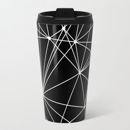 Black & White Geometric Web II Travel Mug