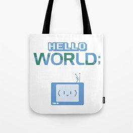 Hello World Cute Code TV Robot Tote Bag