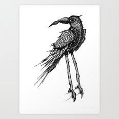 Bad Trip Crow Art Print