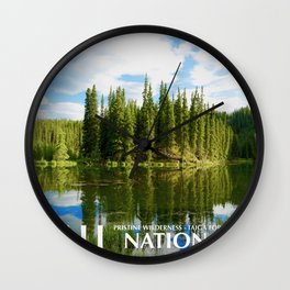 Denali Travel Poster Wall Clock