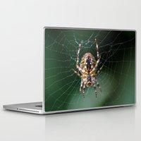 spider Laptop & iPad Skins featuring Spider by Dora Birgis