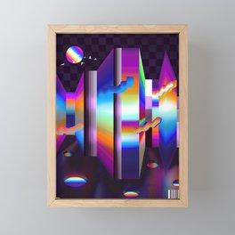 colorful labyrinth Framed Mini Art Print