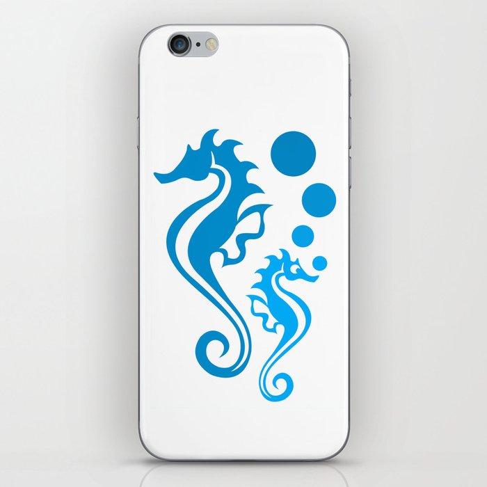 Seahorse Bubble iPhone Skin