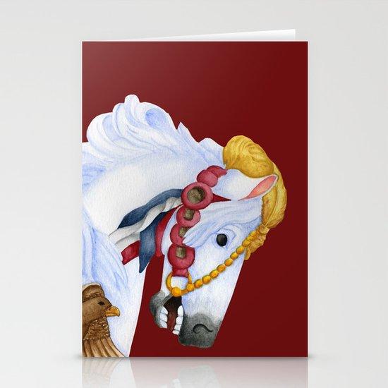 Carousel Horse - Saffron Stationery Cards