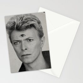 TRD EYE BOWIE MOIRE Stationery Cards