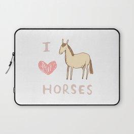I ❤ Horses Laptop Sleeve