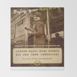 Vintage poster - London Throw Blanket