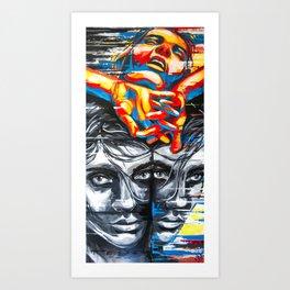 matter of head,  #carographic by Carolyn Mielke Art Print
