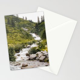 Mountain Stream Photo   Austria Travel Photography   Waterfall In Austria Stationery Cards