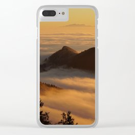 sea of fog Clear iPhone Case