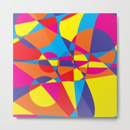 Abstract Geometry Shapes Metal Print