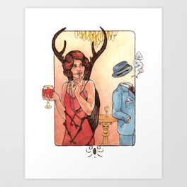 Drinks at a Party Art Print