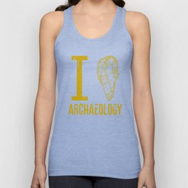 I love archaeology Unisex Tank Top
