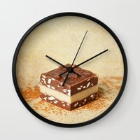 chocolate Wall Clocks featuring chocolate by lucyliu