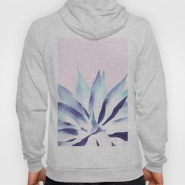 Solar Agave - Pastel blue on pink Hoody