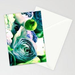 blue purple flower Stationery Cards