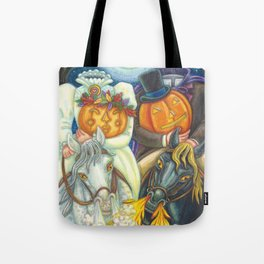 SLEEPY HOLLOW WEDDING - Brack Headless Horseman Halloween Art Tote Bag