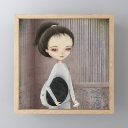 The fencer Framed Mini Art Print
