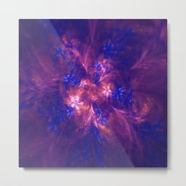 Abstract Blue And Purple Shape Metal Print