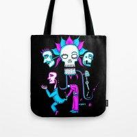 dia de los muertos Tote Bags featuring Dia de los Muertos by Ken Seligson
