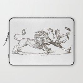 Vintage Children's Book Illustration - Lion and Keeper Laptop Sleeve