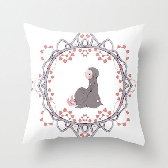 Young Bunny Throw Pillow