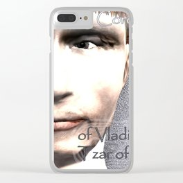 Cartoon Coronation of Vladimir Putin Tzar of Russia Clear iPhone Case