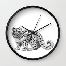 Snow Leopard cub g142 Wall Clock