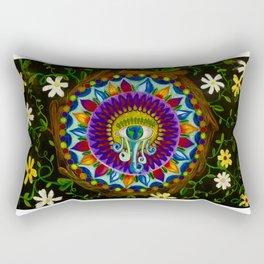 Nature Mandala Rectangular Pillow