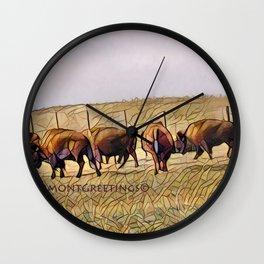 Montana Buffalo Range Wall Clock