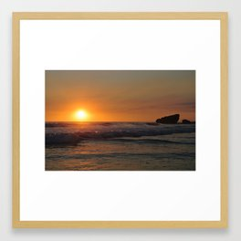 Sunset - El Salvador Framed Art Print