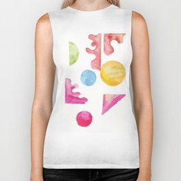 3  | Steady | 181111 November 2018 Shapes Studies | Watercolour Abstract Biker Tank