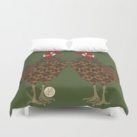 chicken Duvet Covers featuring Chicken by ArtLovePassion