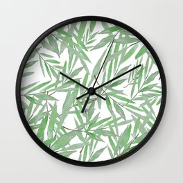 leave pattern Wall Clock