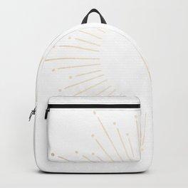 Simply Sunburst in White Gold Sands on White Backpack