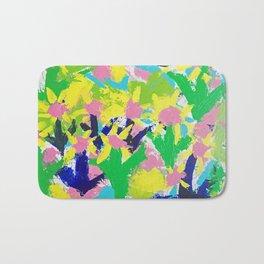 Impressionistic Daisies in the Garden Bath Mat