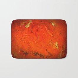 Italian Style Orange Stucco - Adobe Shadows Bath Mat
