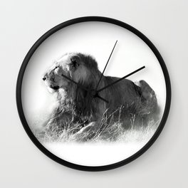 Lion in the Sunshine Wall Clock