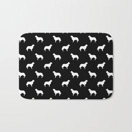 Golden Retriever dog silhouette black and white minimal basic dog lover pattern Bath Mat