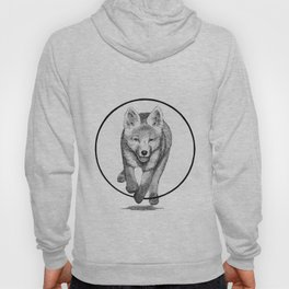 The Fox Running - Animal Drawing Series Hoody