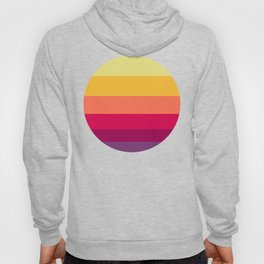 Colorful Sunset Geometric Pattern Hoody