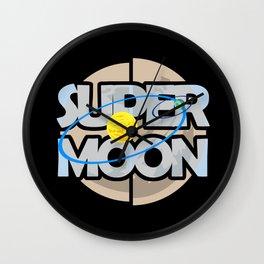 Super Moon Diagram Wall Clock