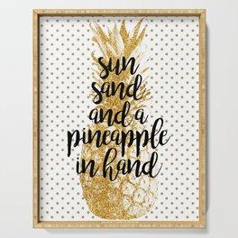 Sun, Sand & Pineapple Serving Tray