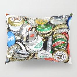 Bottle Caps Painting | Vintage Pillow Sham