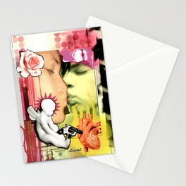 COLLAGE: The Kiss Stationery Cards