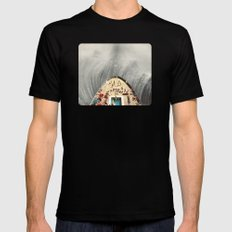 a great big wave (to wash it all away) - collab with sammy slabbinck Black Mens Fitted Tee MEDIUM