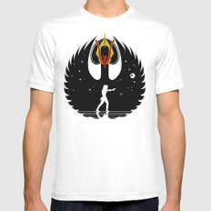 Queen Swan White MEDIUM Mens Fitted Tee